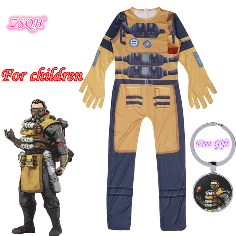 ZSQH Apex Legends Cute Alexander Nox Jumpsuit Cosplay Costume Apex Legends suit New Children Bodysuit Cosplay For Kids Girls Boy