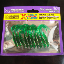 6Packs*Fishing Worm Lure  Soft Lure Fish Trout Crankbait Crap maggot Grub Minnow Artifical Pesca Bait Fishing Tackle