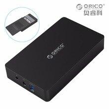 ORICO 3.5 дюймов коробка Жесткий диск Sata 3.0 ПОРТА USB 3.0 HDD Случае Инструмент Бесплатный UASP Поддержка Протоколов ORICO Жесткий Диск корпус (3569S3)