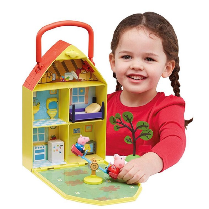Peppa Pig Real Scene Model House PVC Action Figures Family Member Toys Early Learning Educational toys Gift For Kids peppa pig toys doll real scene model house pvc action figures family member toys early learning educational toys gift for kids