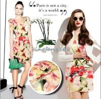 Designer 93% natural mulberry silk 7% spandex stretch satin clothing fabric red flower cheongsam dresses 1m U034