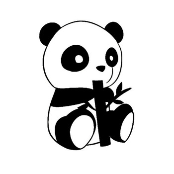 10.4*14CM Endearing Little Panda Car Stickers Creative Vinyl Car Styling Decal Cover Black/Silver S1-2198 image
