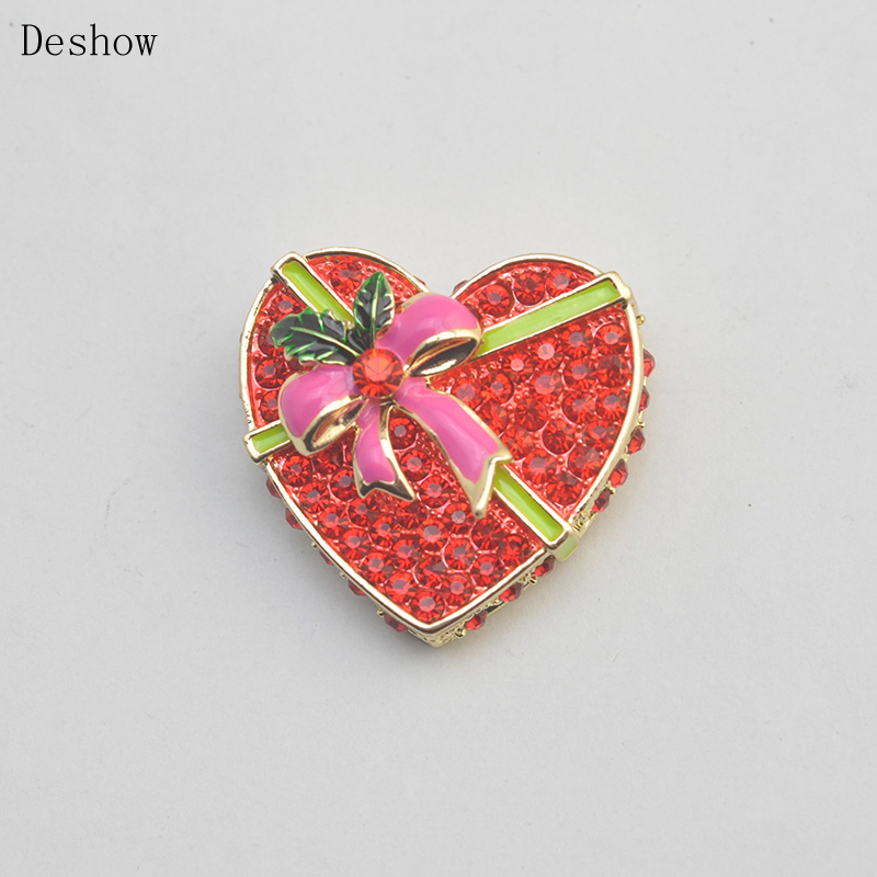 Valentines Day Gift Beauty Female Red Brooch Red Gold Oil Painting Corsage Ornaments New Listing
