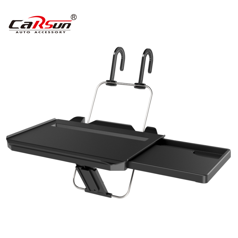 Portable Foldable Car Laptop Stand ABS Table and Steel Frame Car Seat Steering Wheel Notbook Tablet Tray Table Food Drink Holder