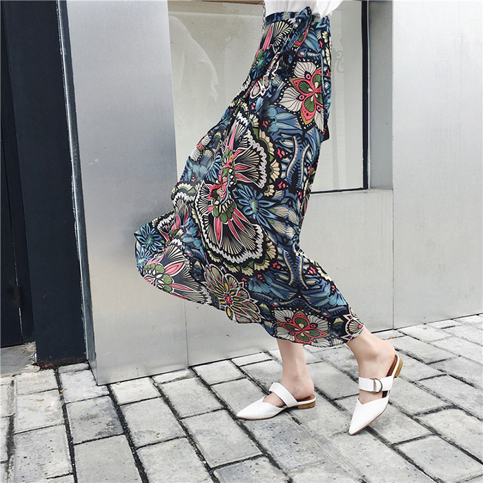 Boho Asymmetrical Chiffon Maxi Long Skirts 45