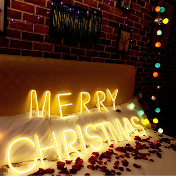 Luces de neón letrero Luz de mesa ligera para Nombre de Bar DIY palabras decoración de fiesta en casa Navidad cumpleaños chico regalo de pareja luces