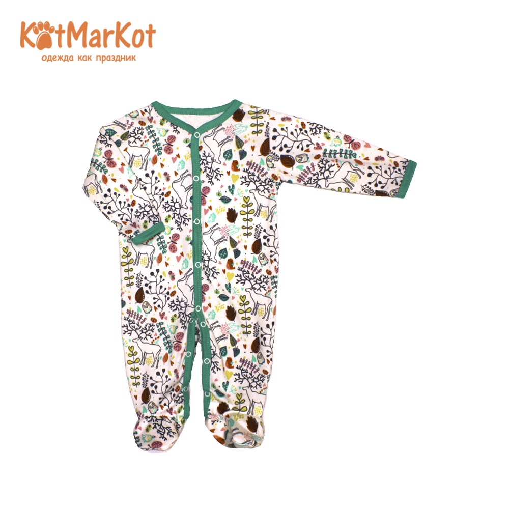Rompers Kotmarkot 6239  overalls for newborn cat sotmarkets sandpiper baby clothes romper Cotton cat sotmarket Baby Boys Print