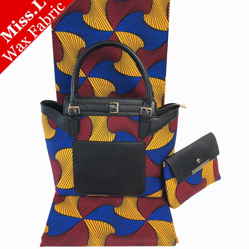 African wax bags sets high quality woman s clutch bags handbag matching 6 yards prints cotton