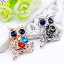 Cute Owl Crystal  Women Hijab Scarf Pin (2 colors)