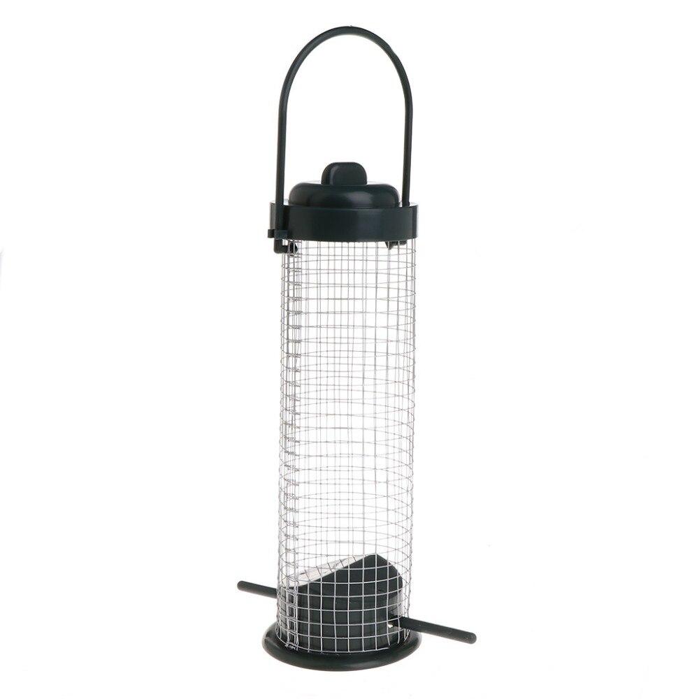Bird Feeder Outdoor Hanging Mesh Feeding Portable Wild Birds Plastic Supplies Products Park Garden Tree Container