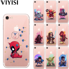VIYISI For Apple IPhone 7 8 X 6 6S Plus case 5 5S SE Phone Case Star Wars Cover Soft TPU Coque Cartoon Shell Deadpool