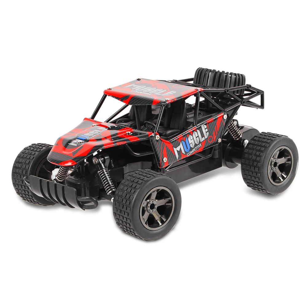 New RC Car UJ99 2.4GHz 1:18 High Speed Climbing Car RTR 20km/h Electric Shock Absorber Impact-resistant PVC Shell Off Road Truck