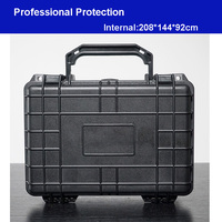 Waterproof tool case toolbox protective Camera Case Instrument box suitcase Impact resistant with pre cut sponge 208*144*92 MM