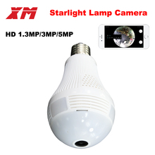 Panoramic 360 VR 960P 1080P 3MP HD IP Camera Smart LED Lights Cam Starlight night vision Bulb Home Security Camera XM ICsee