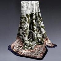 New Designer Luxury Women Silk Scarf Grade 5A 100 Silk Square Scarves Spring Summer Soft Silky