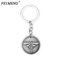 The Last Of Us Vagalume Keychain Llaveros chaveiro Dupla Face Corrente chave do Carro Da Moda Chaveiro Para As Mulheres MenKey Chave Titular anel(China)