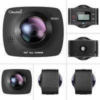 HD 360 градусов панорамная видеокамера 8 миллионов пикселей CMOS VR видео для iPhone Android 2 K + 32 ГБ 90 МБ/с./с TF карта высокого качества