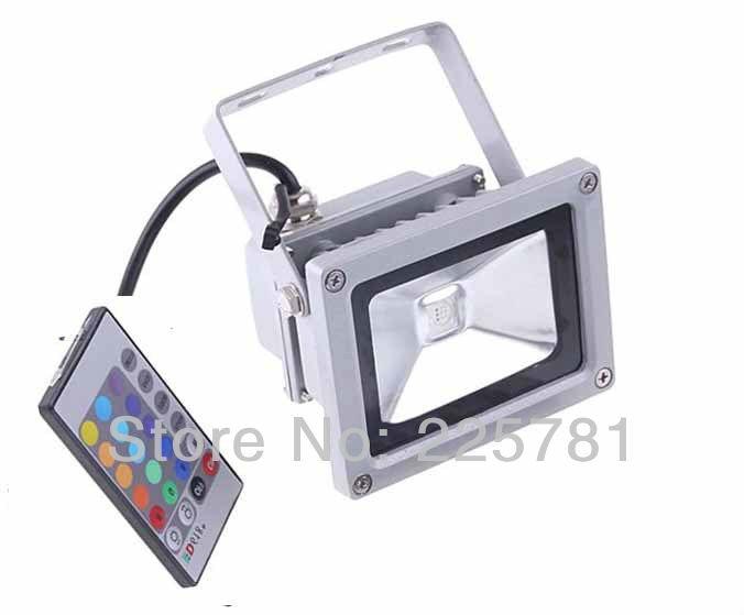 10W RGB LED floodlight free shipping 3pcs/lot Landscape Lighting waterproof LED Flood Light AC85-265V