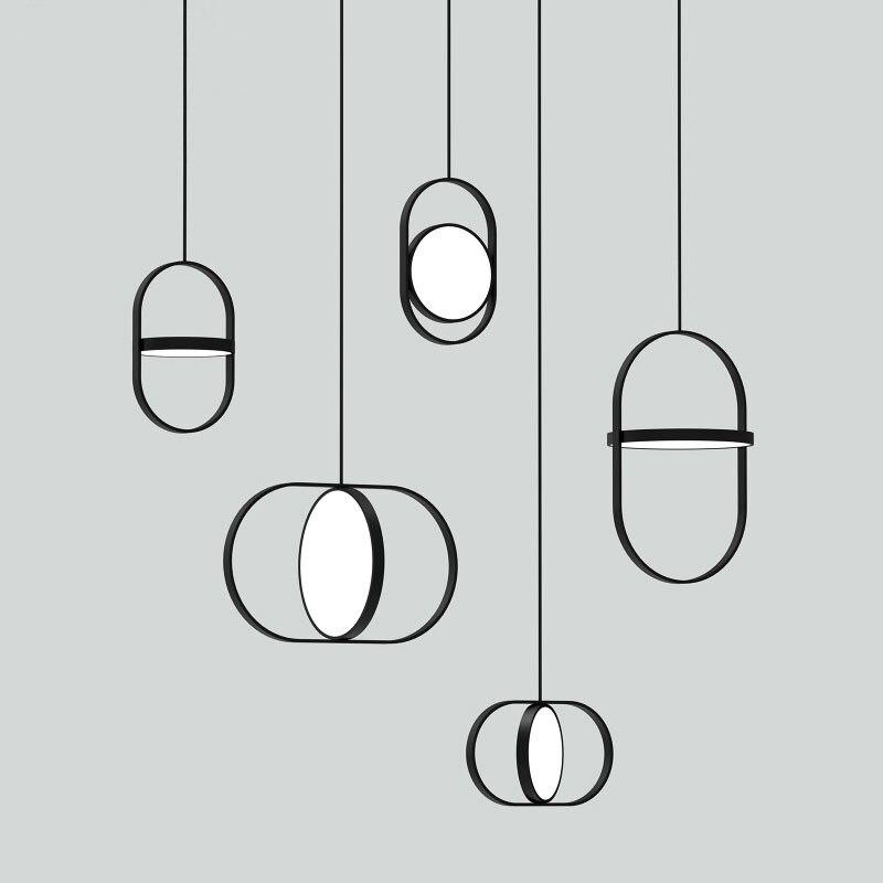 Actief Nordic Moderne Eenvoudige Ijzeren Hanglampen Ronde Roterende Led Hanglamp Bed Lamp Restaurant Eetkamer Home Deco Verlichtingsarmaturen Fijn Verwerkt