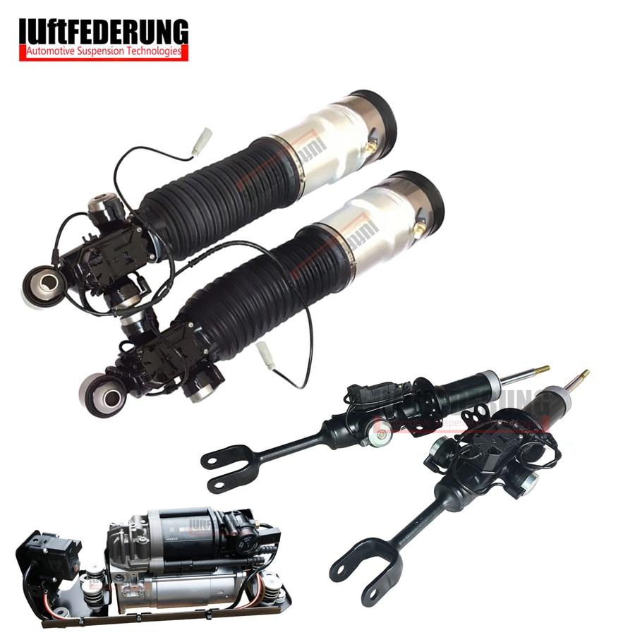 Luftfederuhhng 2 pz Ammortizzatori Anteriori 2 pz Posteriore Pneumatica 1 pz Pompa di Aria Fit BMW F01 F02 37126791929 (30) 37116850221 (222) 37206864215