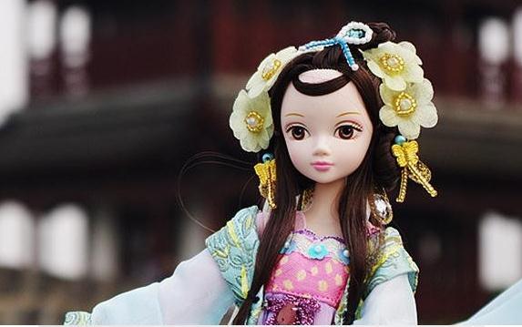 29 см Kurhn куклы для девочек Китайская традиционная кукла игрушки для детей подарок на день рождения Детские игрушки#9050