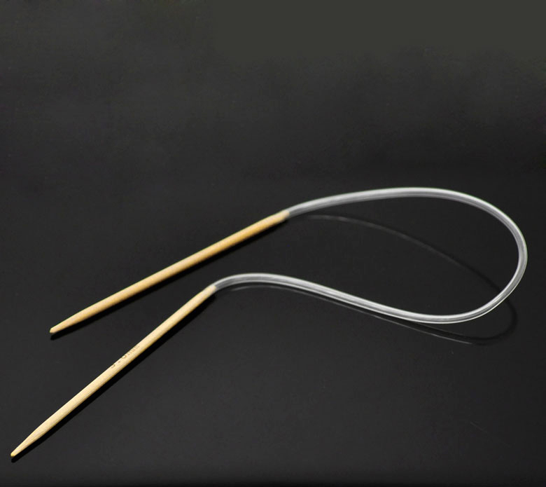 Large Circular Knitting Needles Uk : Doreenbeads pair bamboo cm circular knitting needle uk