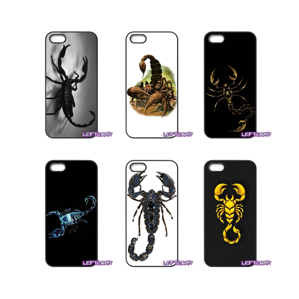 Scorpion Cartoon Painting Hard Phone Case Cover For iPhone 4 4S 5 5C SE 6 6S 7 8 Plus X 4.7 5.5 iPod Touch 4 5 6