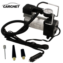 CARCHET Universal 12V Metal car air pump portable high pressure tire copper heart inflatable fast Car Inflator