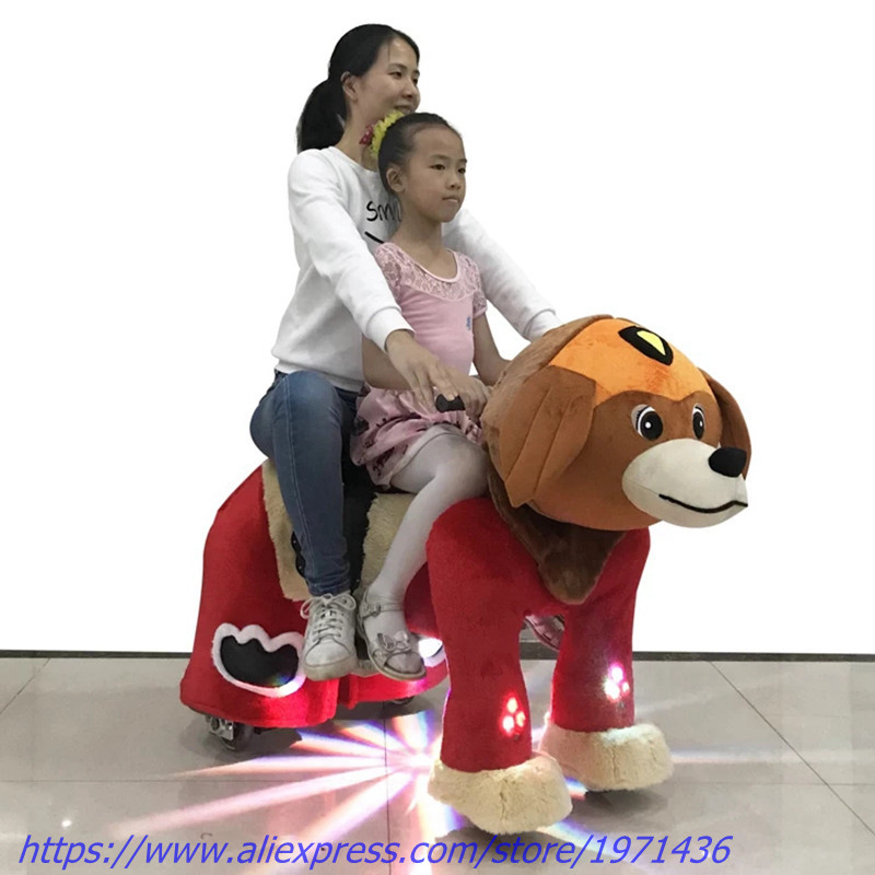 2018 NEW Battery Coin Operated Games Electric Plush Animal Kiddie Rides For Kids and Adults