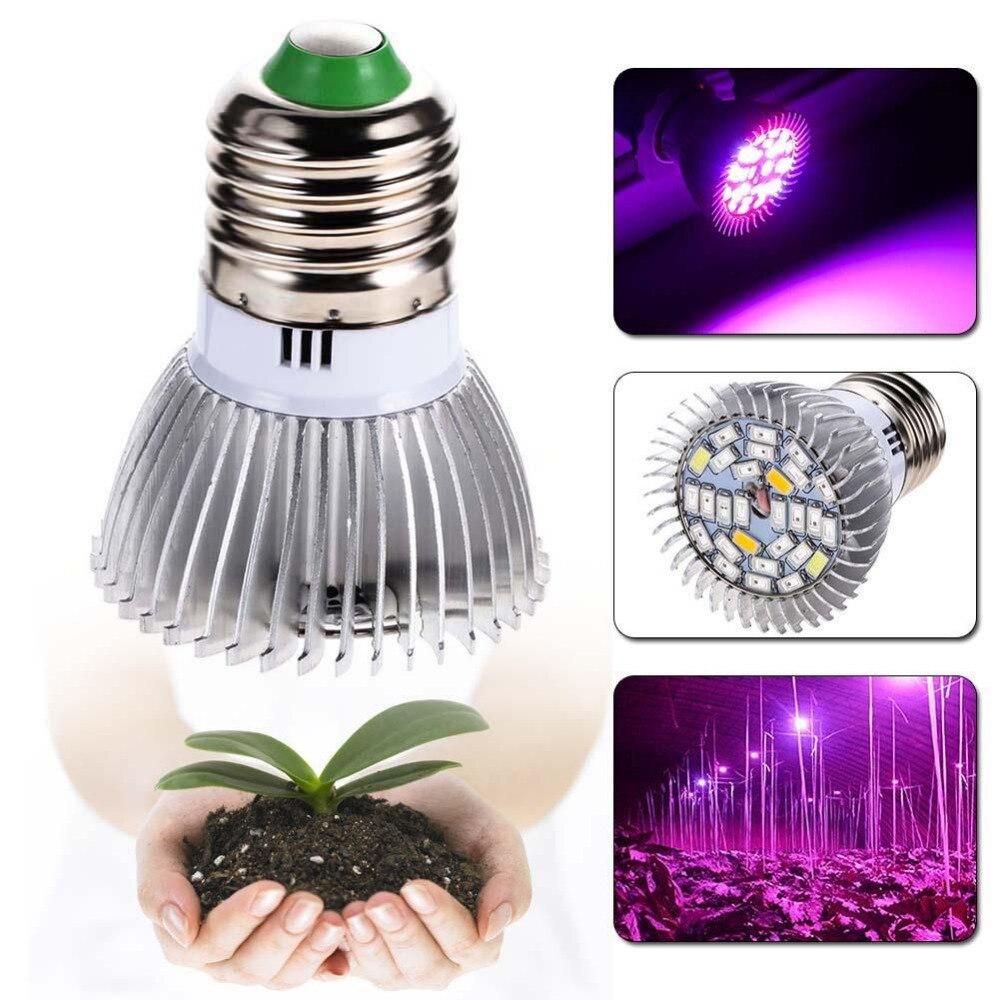 5 pcs espectro completo crescer lampada e27 led cresce a luz gu10 lampada crescimento 28w uv