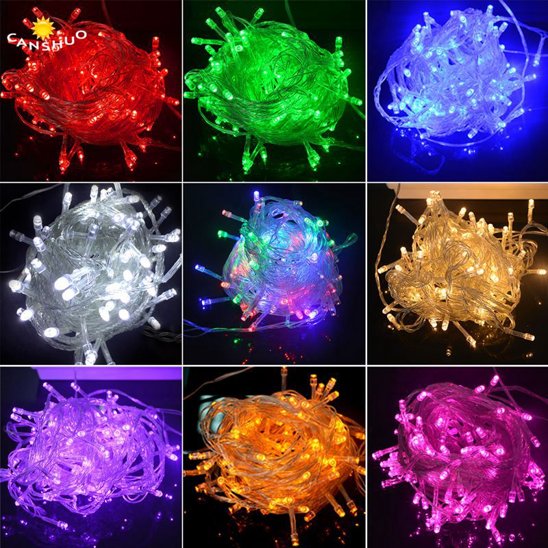 Lights & Lighting Dashing Canshuo 10m 100 Led String Light Waterproof Wedding Christmas Party Lighting Ac110v/220v Outdoor Luces Decoration Xmas Lamps Sturdy Construction