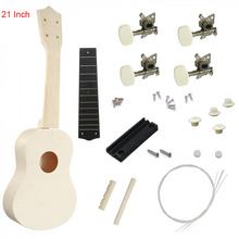 21Inch DIY Ukulele Basswood Creative DIY Kit Tool Hawaii Guitar Handwork Support Painting Children's Toy Assembly neje yw0006 1 diy assembly dynamic creative saline salt water powered toy car blue white