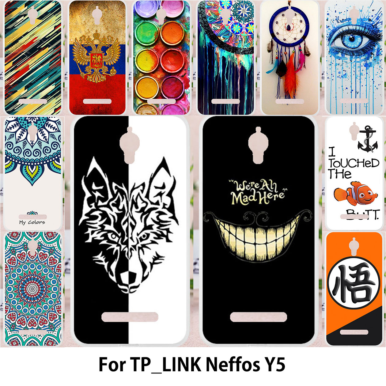 TAOYUNXI For TP-LINK Neffos Y5 case Silicon Case For TPLINK Neffos Y5 TP802A Cover Dreamcatcher Patterned Chinese character