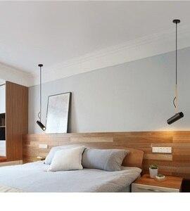 Image 3 - Lukloy Đầu Giường Mặt Dây Chuyền Học Để Móc Treo Nhà Treo Đèn LED Chiếu Sáng Điểm Đèn Học Để Có Thể Điều Chỉnh Đèn Hanglamp