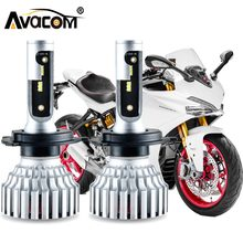 Avacom 2 Pieces H4 HS1 LED Motorcycle Headlight Bulb 12V 6500K 16000Lm ZES Chip LED H7 H11 Motorbike Scooter Headlamp Phare moto(China)