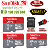 Sandisk 2016 100% Original Micro SD Micro SD SDHC C10 80MB/S TF 32GB 64GB 16GB Memory Card Support Official Verification