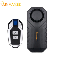 JINMANZE Vibration Detector Waterproof Bike Motorcycle Electric Bicycle Security Anti Lost Wireless Remote Control Alarm