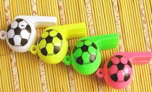 Wholesale font b Cheerleading b font Whistles Creative Plastic Soccer Whistle Promotional Gifts 400Pcs Lot Free