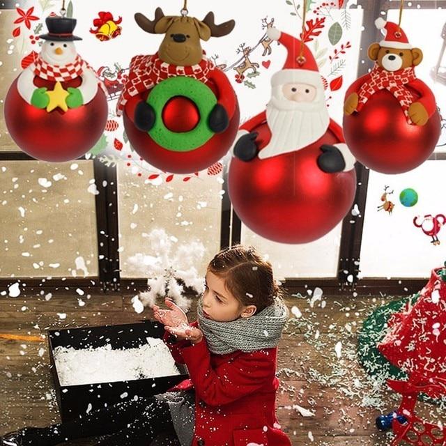 Christmas Tree Decorations Aliexpress: 1Pc Creative Christmas Cartoon Ball Santa Claus Decoration