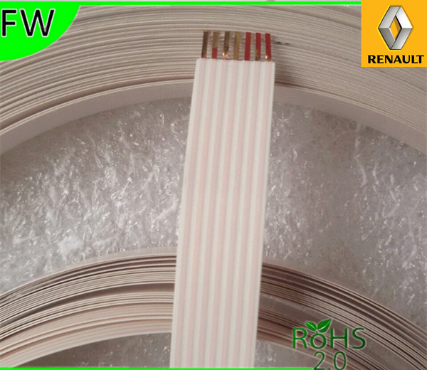 3pcs Ffc Cable 7 Pin 1 27mm Pitch 9 0mm Width Long51 53cm