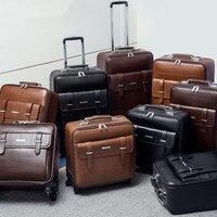 Paul коммерческих чемодан на колесиках мужской женский Универсальный wheels16 20 24 багаж дорожная сумка, высокое качество ПВХ тележка для багажа