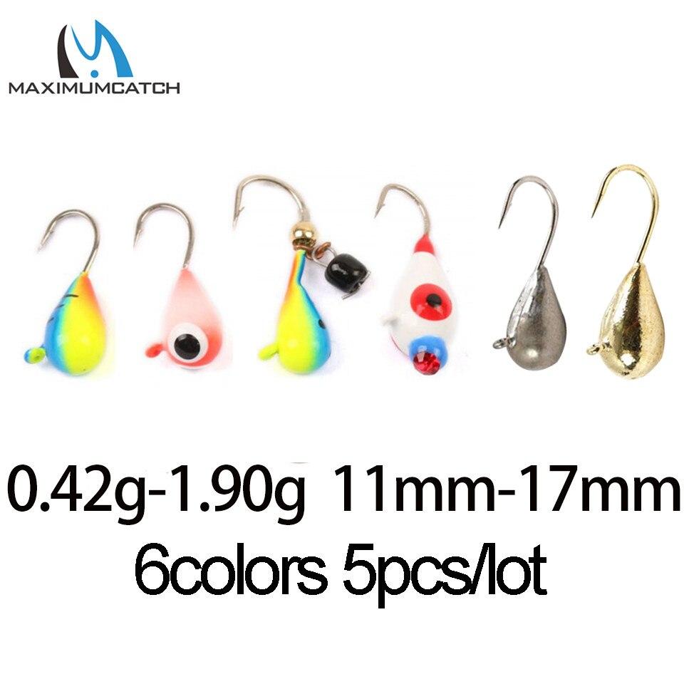 Maximumcatch 16 #14 #12 # Wolfram Eisfischen Jig 0,42g-1,90g/11mm- 17mm Japan Haken Winter Angeln Köder