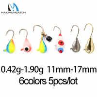 Maximumcatch 16# 14# 12#  Tungsten Ice Fishing Jig 0.42g-1.90g/11mm-17mm Japan Hook Winter Fishing Baits