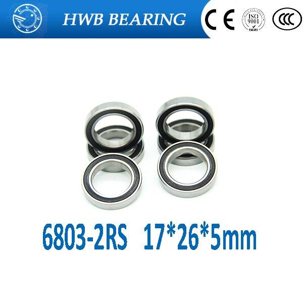 1pcs 6201-2RS 6201RS 2RS 12x32x10mm caoutchouc étanche Deep Groove Ball Bearing