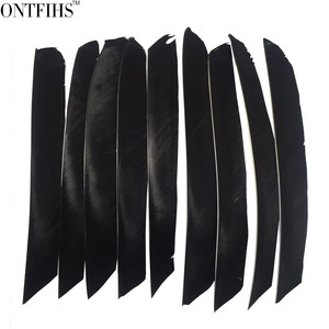 Image 4 - 50pcs ONTFIHS Fletching Arrow Feathers Multicolor Full length Real Turkey Feather for Archery Hunting and Shooting Arrow Feather