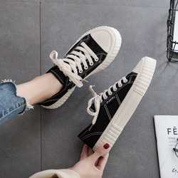 Canvas Shoes Woman 2019 Spring New Fashion Women Shoes Casual Flats Solid Canvas Classic Solid Color Women Casual Shoes Sneakers