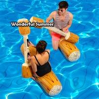 Promo 4 unids/set Joust flotador de Piscina juego inflable amortiguador deportivo de agua juguetes para adultos niños fiesta gladiador balsa Kickboard Piscina
