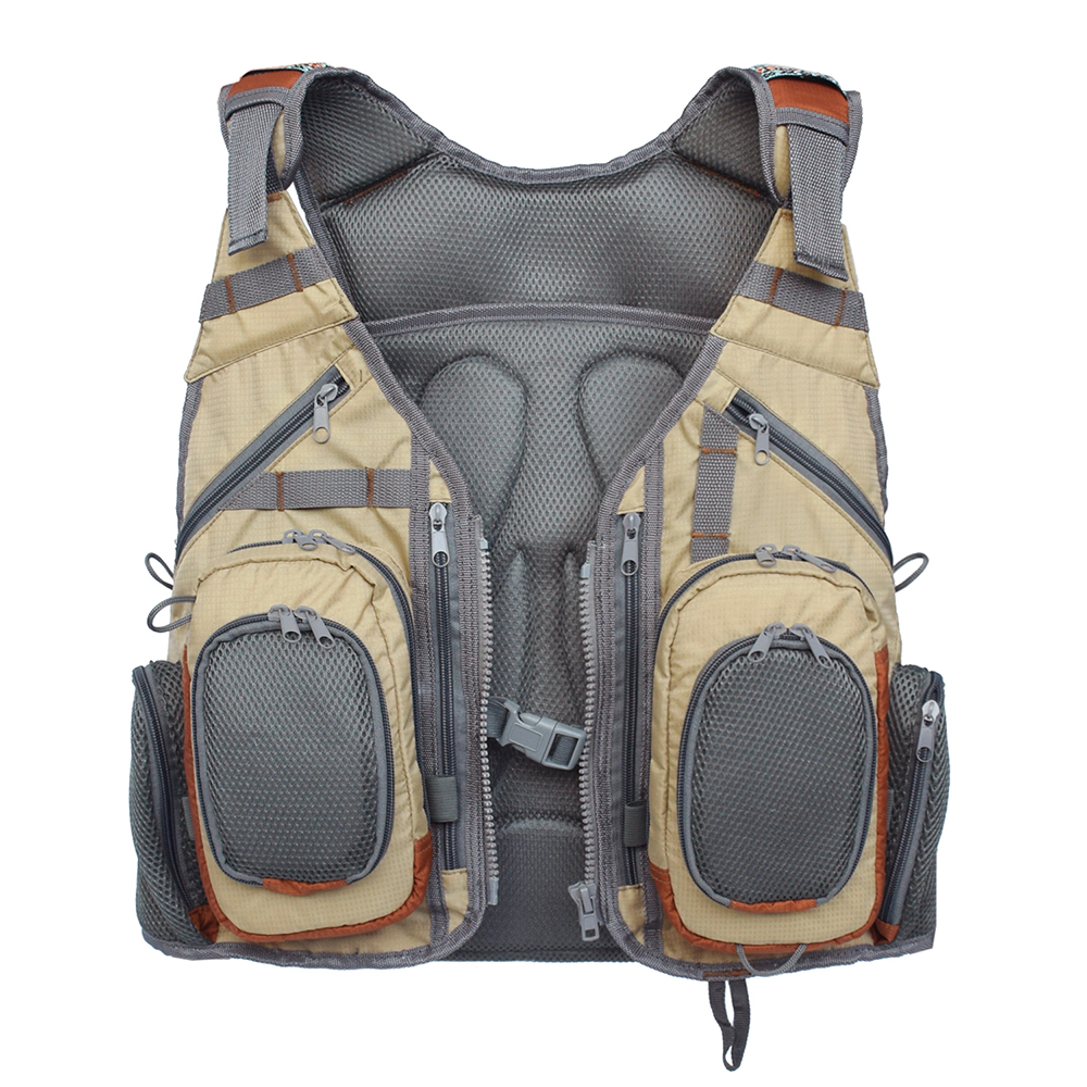 Outdoor Fishing Vest Backpack Multi Pocket Breathable Mesh Fishing Vest Pack Waistcoat Jacket Coat