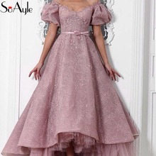 SoAyle Prom Dresses 2018 Off the Shoulder Lace Ball Gown Vintage Graduation  Formal Dresses Evening Gowns d0e62400abe1