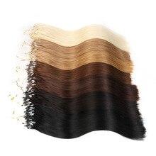 Alishow прямые Петлевое микрокольцо для волос 1 г/локон 50 г/упак. человеческие микро бусины Связки remy волосы прямые для наращивания#613 блонд